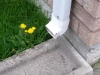 Downspout without an extension
